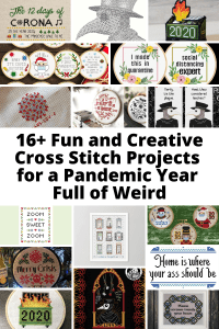 16+ Fun and Creative 2020 Cross Stitch Patterns for a Pandemic Year Full of Weird