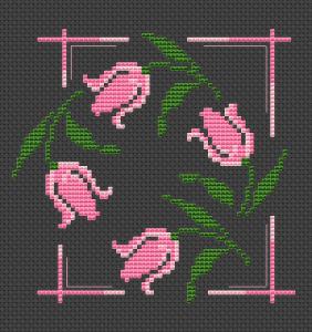 Free Tulip Cross Stitch Pattern from Alita Designs