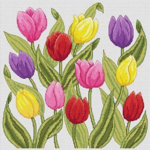 Tulips Cross Stitch Pattern from Amanda G Cross Stitch on Etsy