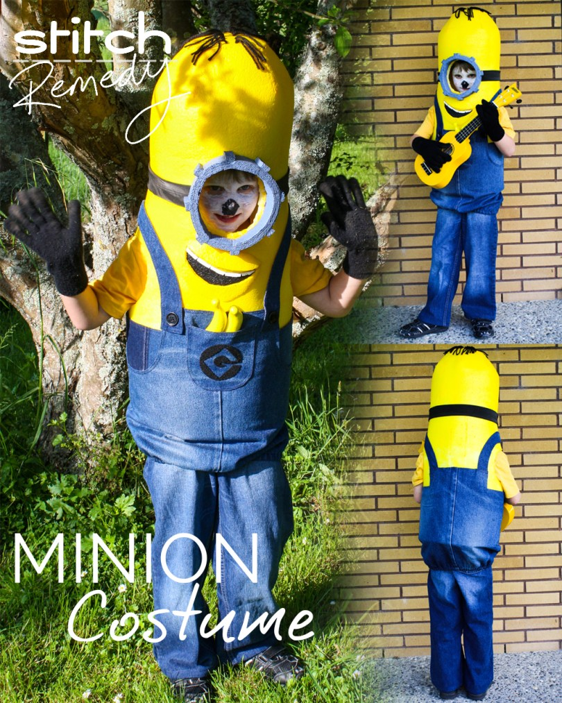 Stuart the Minion Costume - Cosplay - Minion - Despicable Me - Halloween - Instructions - stitchremedy.com - Check out how I made this adorable Minion costume!