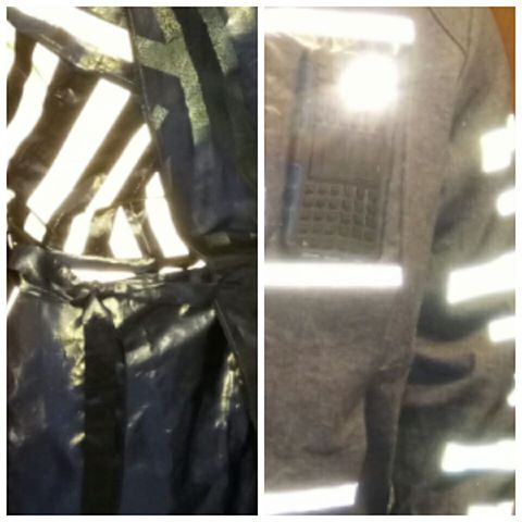 blurry pics of my garments - reflective wear - stitchremedy.com