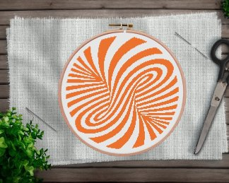 Abstract-Geometry-Cross Stitch Pattern