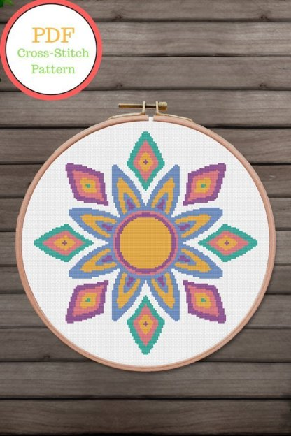 Boho-Star-Pint cross stitch pattern