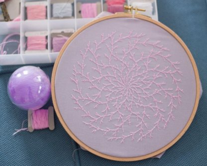 Branch Mandala PDF Embroidery Pattern Photos