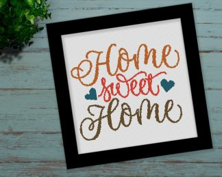 HSH-cross stitch pattern