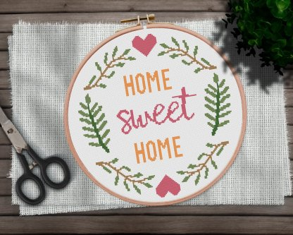Home-Sweet-Home-2-quote cross stitch pattern