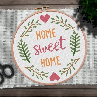 Home-Sweet-Home-2-Inst-quote cross stitch pattern