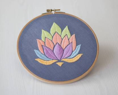 Lotus Flower Contemporary Embroidery Pattern