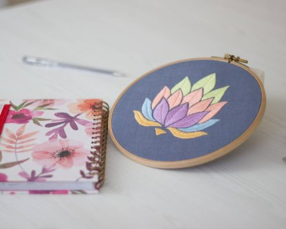 Lotus Flower Instant Download Embroidery Pattern