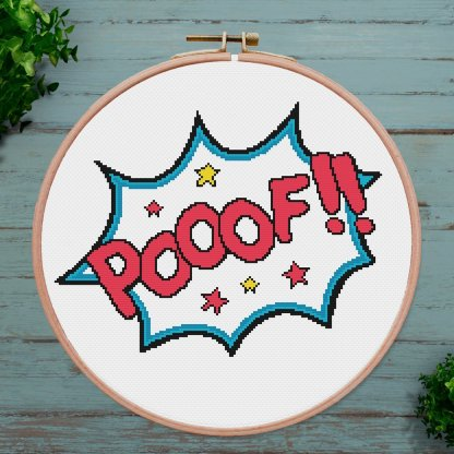 Super hero effects cross stitch pattern