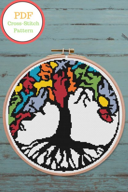 tree of life pdf cross stitch pattern