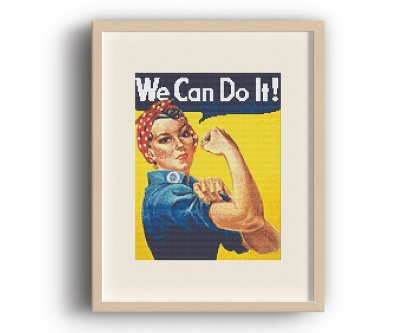 We Can Do It Vintage Cross Stitch Pattern