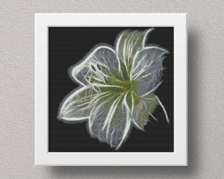 White-Flower-cross stitch pattern