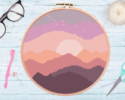 night-sky-instant-download-cross-stitch-template