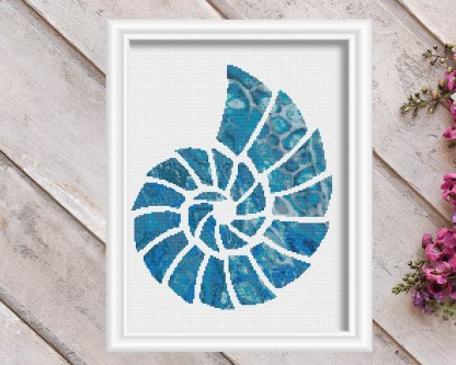 seashell 2-nautical-cross-stitch-pattern