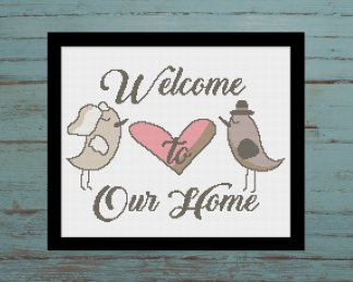 welcome-Sign-cross stitch pattern
