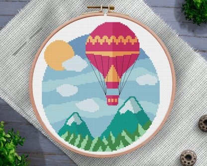baloon-ride-cross-stitch-pattern