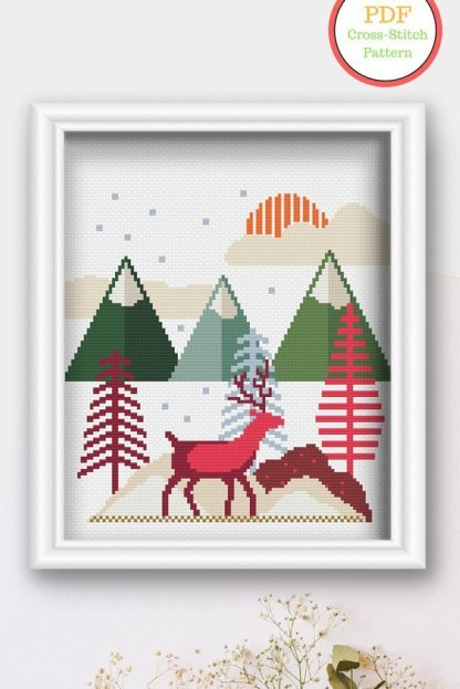 winter-scene-modern-cross-stitch-pattern
