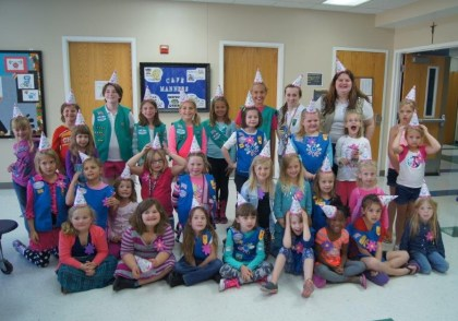 girl scouts St James Troup