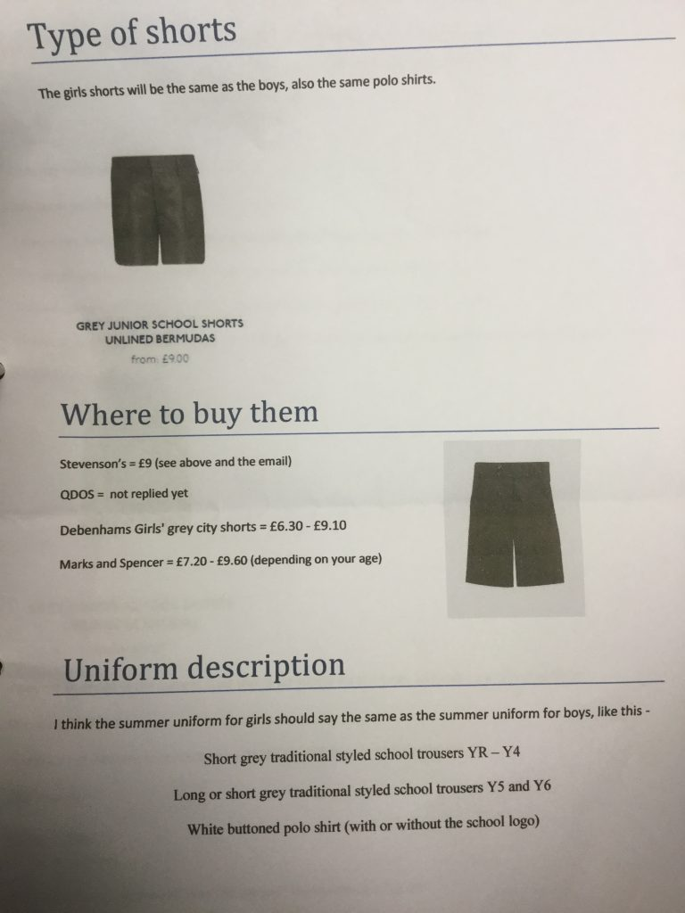 Girl S Letter Changes Uniform Policy