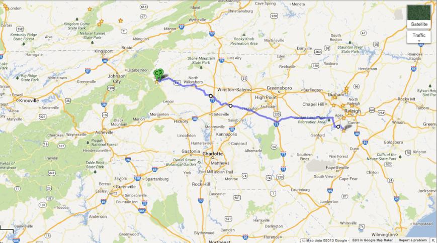 Fuquay-Varina to Boone, NC