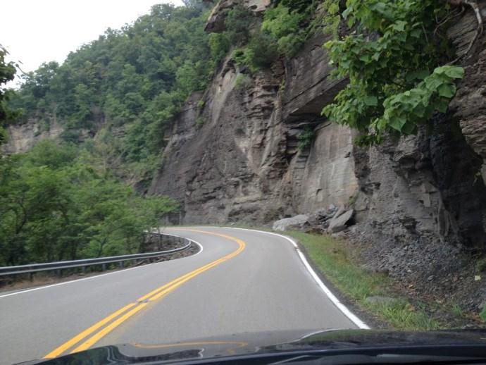 VA route 80 heading towards Breaks, VA