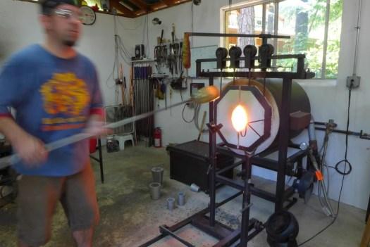 Matt, glassblower artist at Cedar Creek