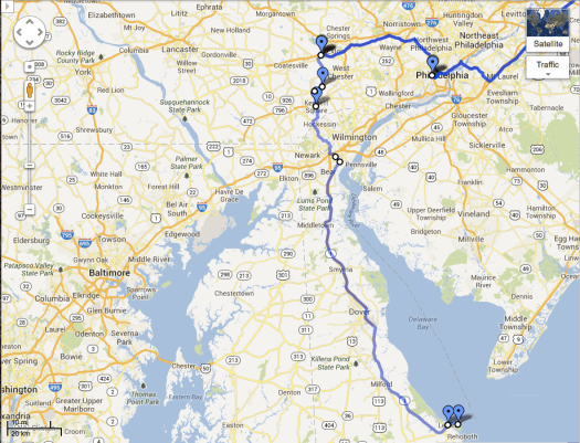 Downingtown to Lewes