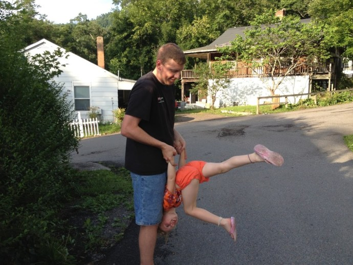Robert and daughter Haley, future gymnast
