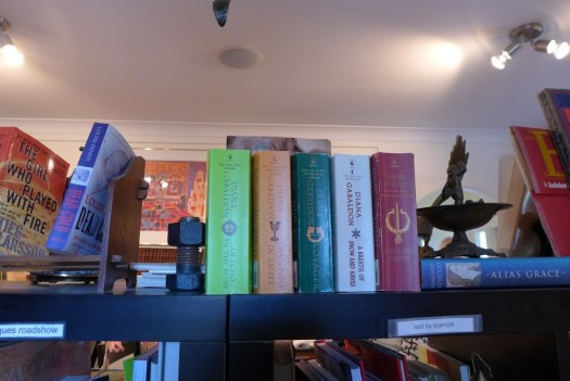 One of Mom's favorite authors - books in a store in Mahone Bay, Nova Scotia