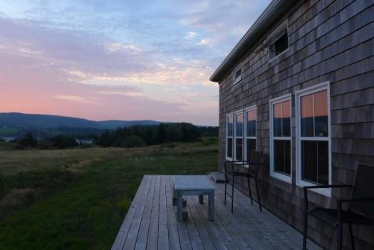 Cottage at dawn, Margaree Harbour, Cape Breton