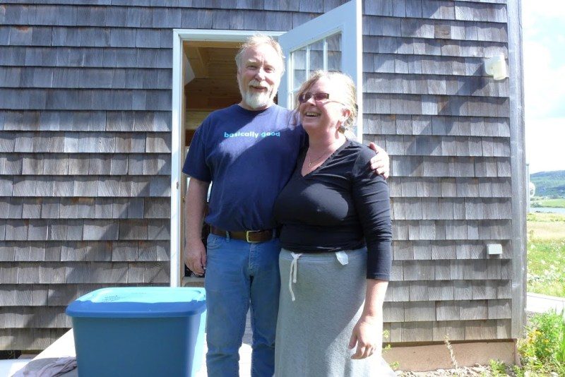 Don and Kristine at the Margaree cottage. Cape Breton.