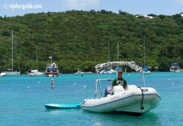 Rent a dinghy on St. John USVI
