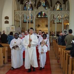 Recessional at a regular service at St. John's Anglican Cathedral