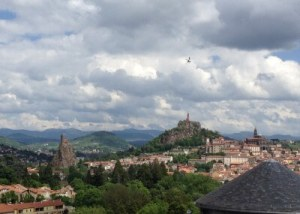 View of town of Le Puy, France