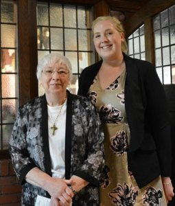 Sister Stella Cronauer with new Associate Molly Durbin