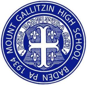 Mount Galitzin High School Baden, PA, 1934, circular school seal