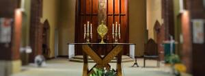 Eucharistic Adoration in the Sisters of St. Joseph Motherhouse Chapel