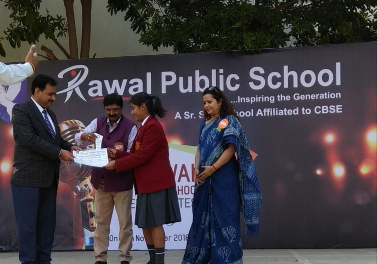 Rawal Inter School Competition- Jaanvi Garg got Second Prize in secondary Category