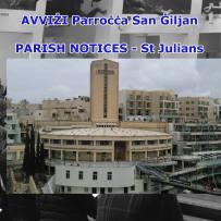 AVVIŻI – PARISH NOTICES ST JULIAN'S PARISH 22nd to 23rd June 2019