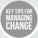 Infographic with advice for organisational change