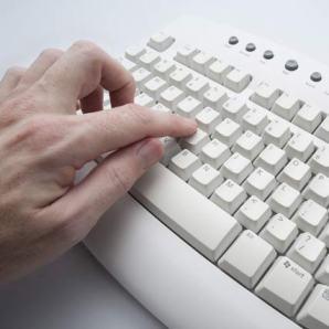 fingers on keys