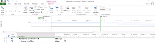 Detailed Timeline in MS Project