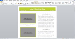 screenshot-of-Newsletter-template-Word-2010-ready-for-working-on