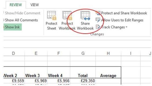 how to share files in Excel