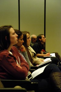 Attendees at the Fontbonne University