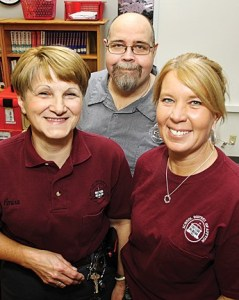 From left, Emira Adeilovic, Tim Showers and Laura Showalter. photo by Diana Linsley