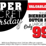 Today ONLY at Dierbergs – Dutch Farms Or Dierbergs Large Eggs $0.99