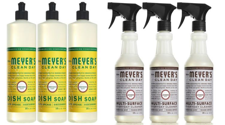 image about Mrs Meyers Printable Coupon called Mrs. Meyers Dish Cleaning soap 3-Pack Merely $6.41 Delivered + A lot more