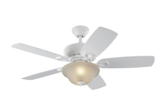 Harbor Breeze White Indoor Downrod Or Close Mount Ceiling Fan With Light Kit 44 98 Retail 69 98 Stl Mommy